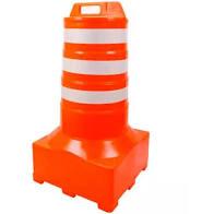 Cone Barril sinalizador de tráfego 110 cm refletivo base quadrada